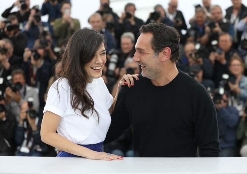 Mélanie Doutey et Gilles Lellouche au Festival de Cannes en 2018.