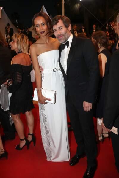 Jalil Lespert et Sonia Rolland au Festival de Cannes en 2017.