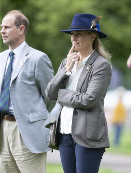 Le comte et de la comtesse de Wessex au Royal Windsor Horse Show ce samedi 3 juillet.