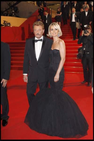 Johnny Hallyday et Laeticia au Festival de Cannes en 2009.