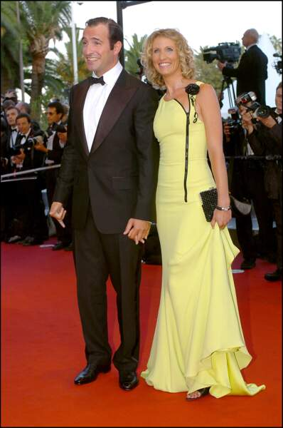 Jean Dujardin et Alexandra Lamy au Festival de Cannes en 2005.