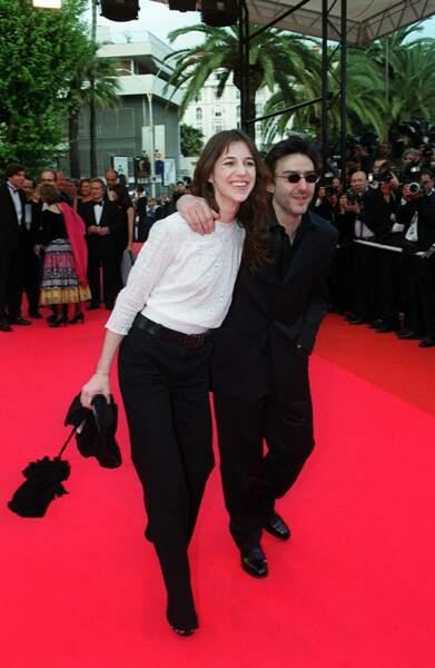 Charlotte Gainsbourg et Yvan Attal au Festival de Cannes en 2001.