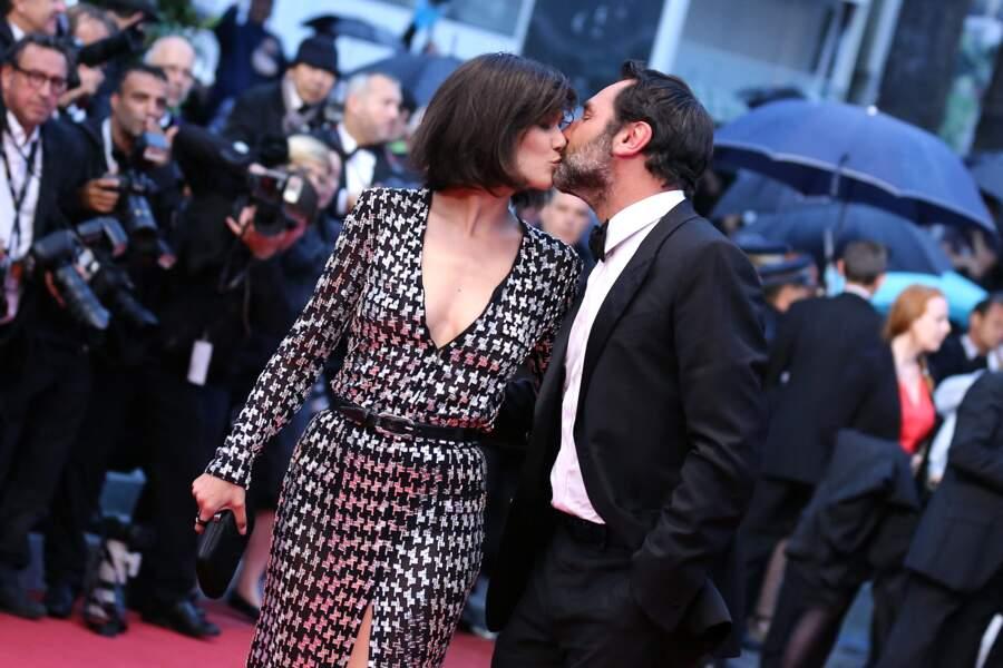 Mélanie Doutey et Gilles Lellouche au Festival de Cannes en 2012.