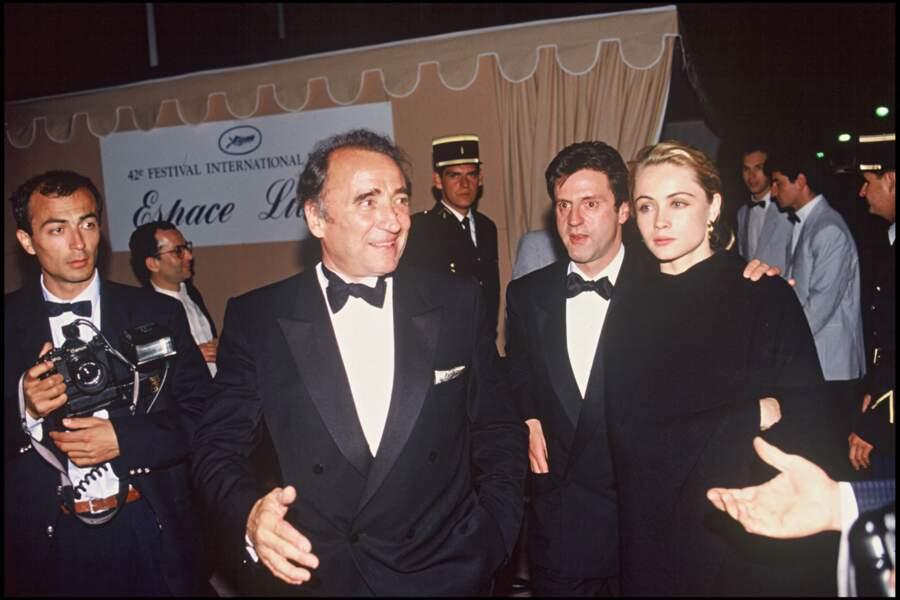 Emmanuelle Béart et Daniel Auteuil au Festival de Cannes en 1989.