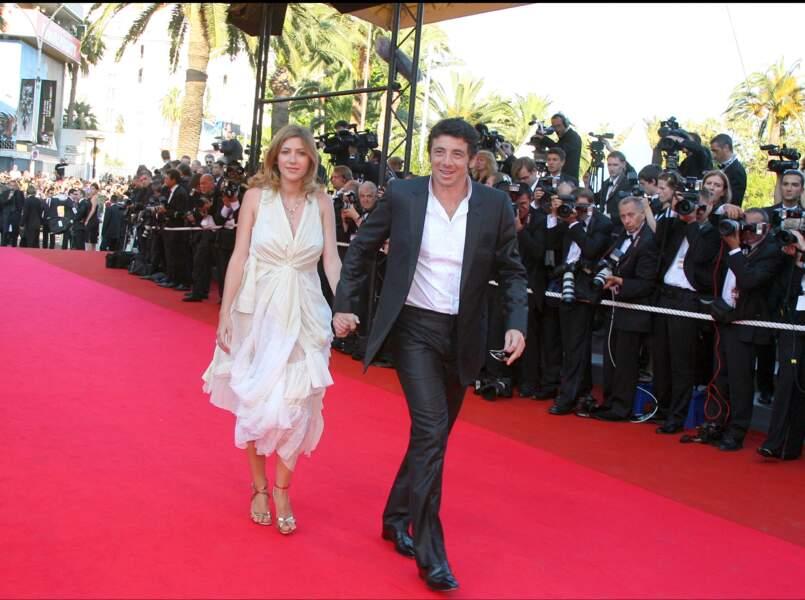 Patrick Bruel et Amanda Sthers au Festival de Cannes en 2007.