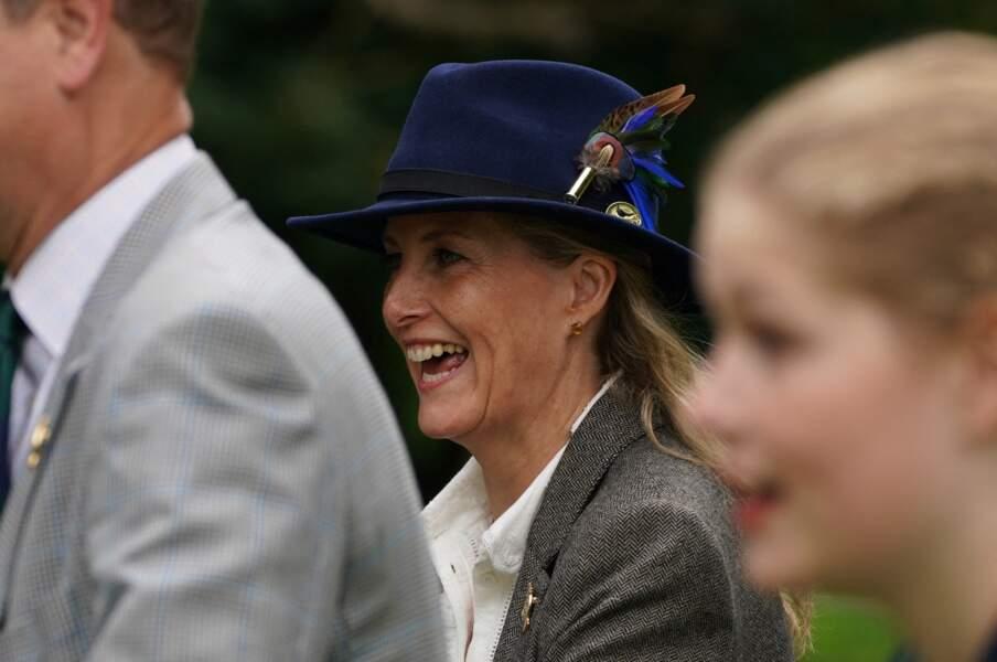 L'épouse du prince Edward avec sa fille, Lady Louise au Royal Windsor Horse Show, ce 3 juillet.