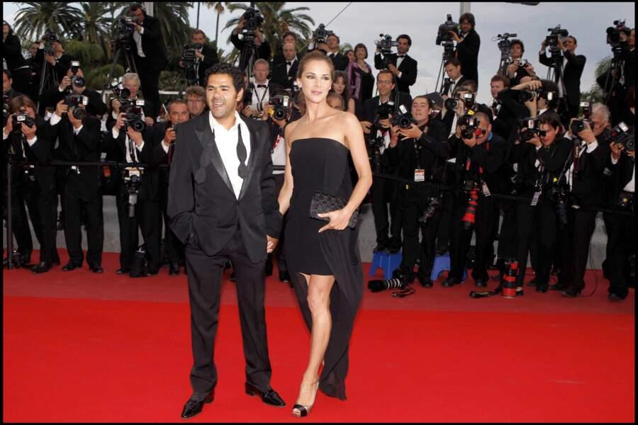 Jamel Debbouze et Melissa Theuriau au Festival de Cannes en 2010.