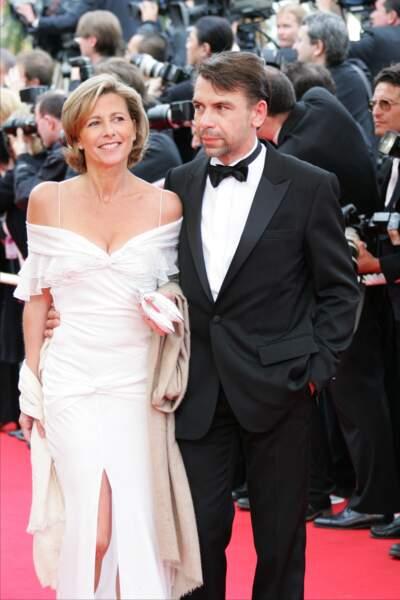 Claire Chazal et Philippe Torreton au Festival de Cannes en 2004.