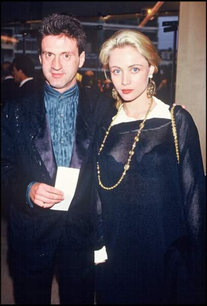 Emmanuelle Béart et Daniel Auteuil au Festival de Cannes en 1987.