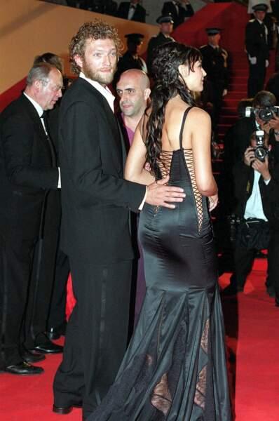 Monica Bellucci et Vincent Cassel au Festival de Cannes en 2002.