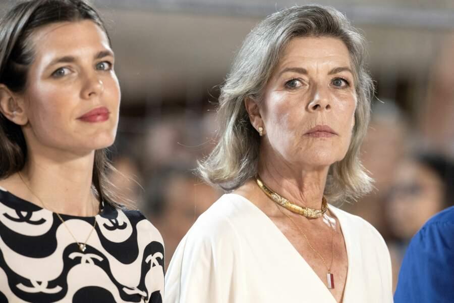 La princesse Caroline aux côtés de sa fille, Charlotte Casiraghi.