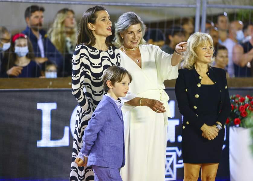 Caroline de Monaco, Charlotte Casiraghi et Raphaël ont fait sensation.