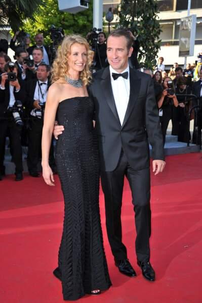 Jean Dujardin et Alexandra Lamy au Festival de Cannes en 2011.