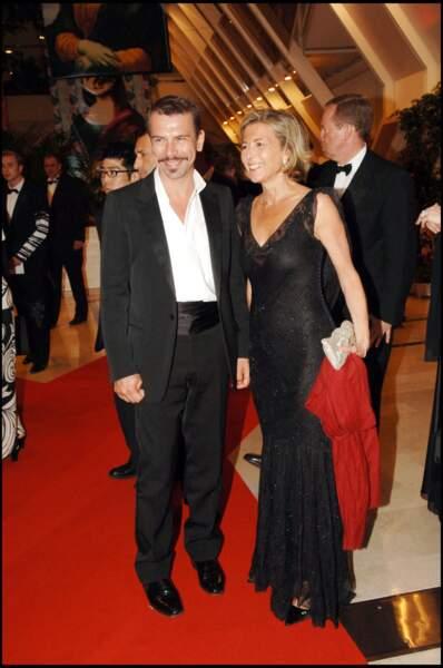Claire Chazal et Philippe Torreton au Festival de Cannes en 2006.