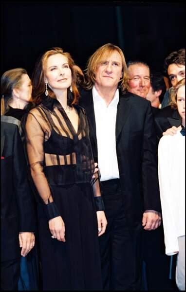 Gérard Depardieu et Carole Bouquet au Festival de Cannes en 1998.