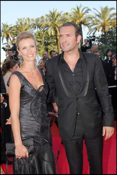 Jean Dujardin et Alexandra Lamy au Festival de Cannes en 2007.