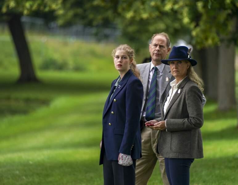 Les époux Wessex ont accompagné leur fille, Lady Louise, au Royal Windsor Horse Show ce samedi 3 juillet.