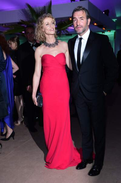 Jean Dujardin et Alexandra Lamy au Festival de Cannes en 2012.