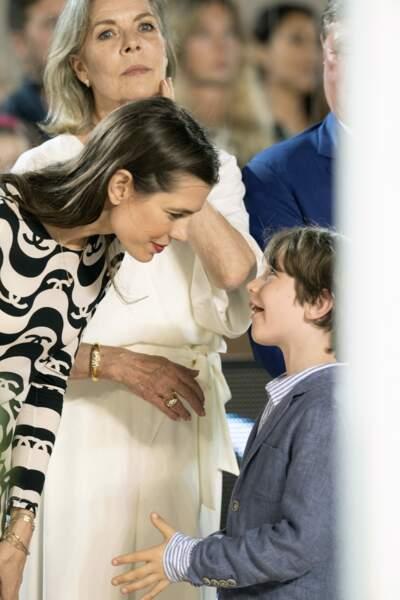 Charlotte Casiraghi et son fils, Raphaël, si proches.