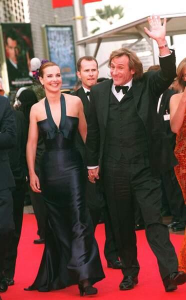 Gérard Depardieu et Carole Bouquet au Festival de Cannes en 1997.