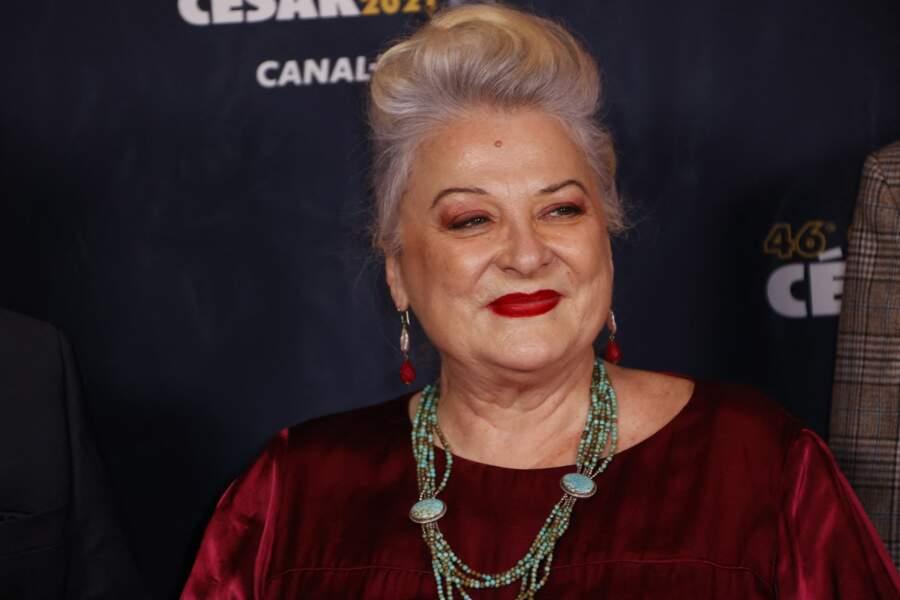 Josiane Balasko lors du photocall lors de la 46ème cérémonie des César, le 12 mars 2021.
