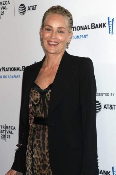 Sharon Stone - Soirée de clôture du Festival du film de Tribeca à New York le 19 juin 2021.