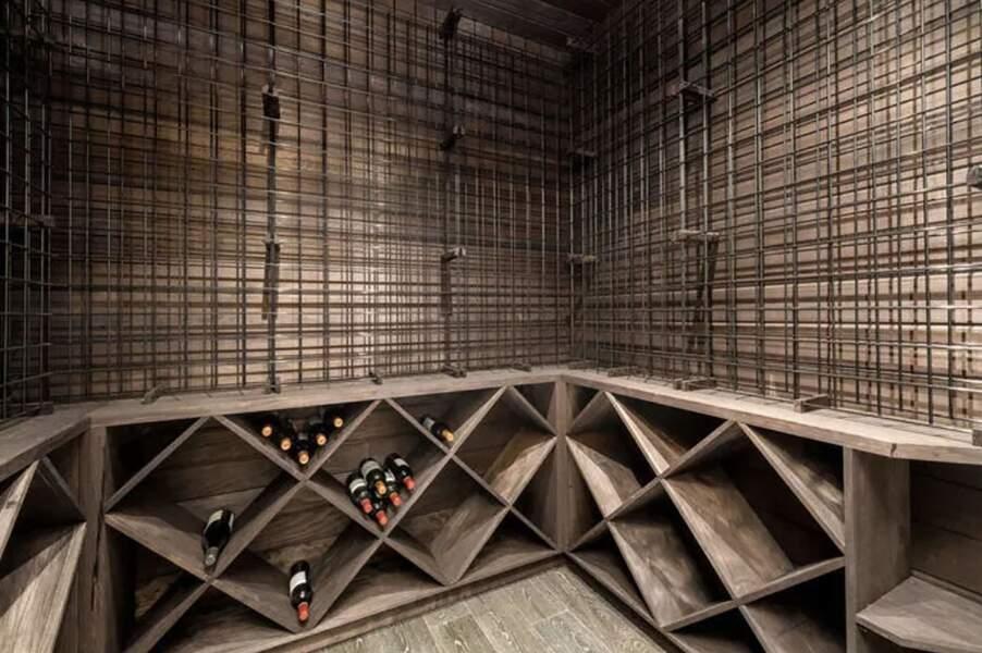 La cave à vin de la villa de Laeticia et Johnny Hallyday à Pacific Palisades vendue en février 2021 pour 13 millions d'euros à Los Angeles.
