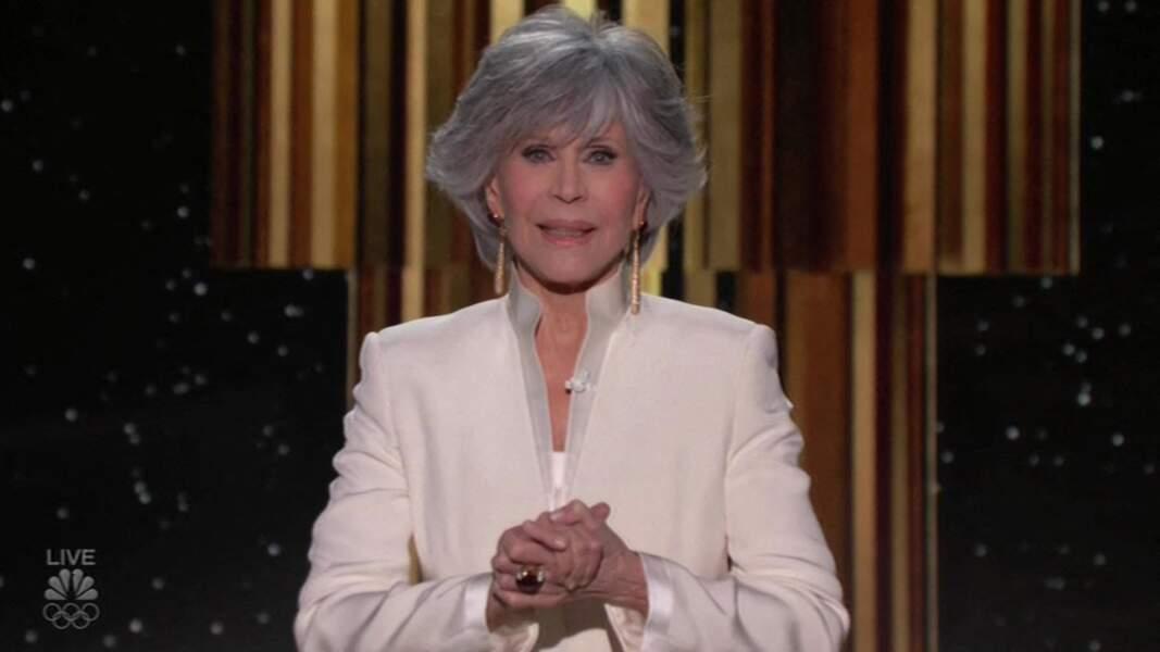 Jane Fonda reçoit le Cecil B. DeMille Award - 78ème cérémonie des Golden Globe Awards, le 28 février 2021.