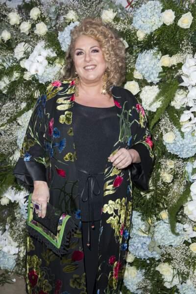 Marianne James lors de la 16ème soirée Sidaction dans la salle de réception du Pavillon d'Armenonville à Paris, le 26 janvier 2018.