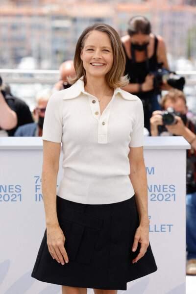 Jodie Foster présente au 74ème Festival International du film de Cannes, le 6 juillet 2021.
