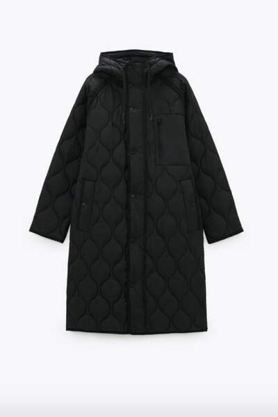 Manteau matelassé oversized, 69,95€, Zara