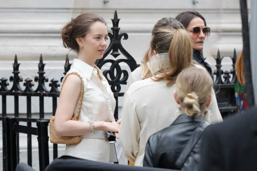 La princesse Alexandra de Hanovre au défilé Chanel Haute Couture au musée Galliera à Paris, le 6 juillet 2021.