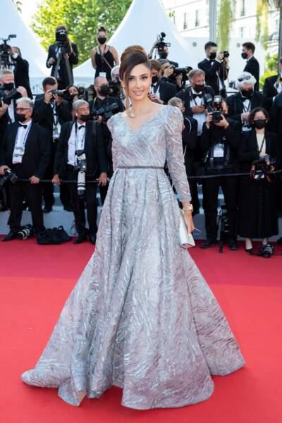 """Patricia Contreras pour la montée des marches du film """"Annette"""" lors de la cérémonie d'ouverture du 74ème Festival International du Film de Cannes, le 6 juillet 2021"""