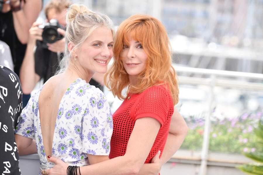 Mylène Farmer et Mélanie Laurent au photocall du 74ème festival international du film de Cannes, le 6 juillet 2021