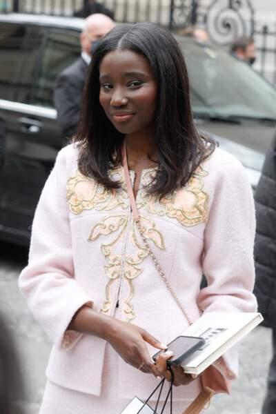 Karidja Touré au défilé Chanel Haute Couture au musée Galliera à Paris, le 6 juillet 2021.