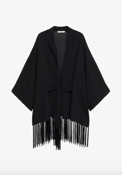 Veste légère à franges, 59,99€, Violeta by Mango sur Zalando
