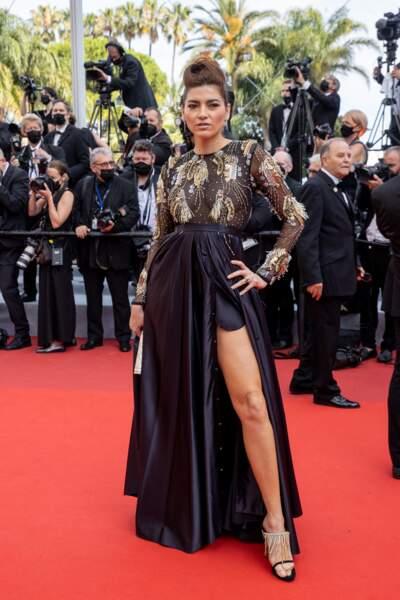 """Blanca Blanco a elle misé sur une création signée Christophe Guillarmé pour la montée des marches du film """"Tout s'est bien passé"""" lors du 74ème Festival International du Film de Cannes, le 7 juillet 2021"""