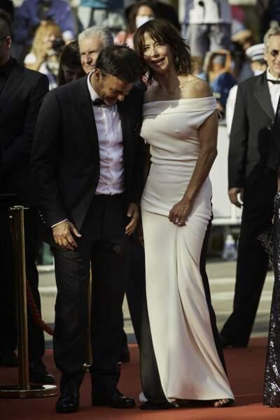 Sophie Marceau semblait ravie de faire son retour sur la Croisette, lors du 74ème Festival International du Film de Cannes, le 7 juillet 2021