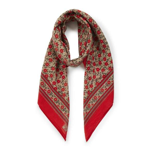 Foulard Fleuri Rouge vermillon, 27€, Bonton sur Smallable