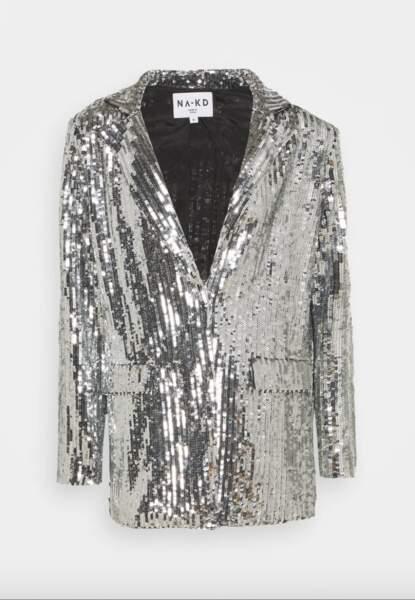 Manteau court en sequins, 89,95€, Nakd sur Zalando