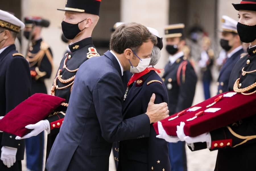 Emmanuel Macron à al cérémonie de décorations ce 8 juillet 2021 à Paris