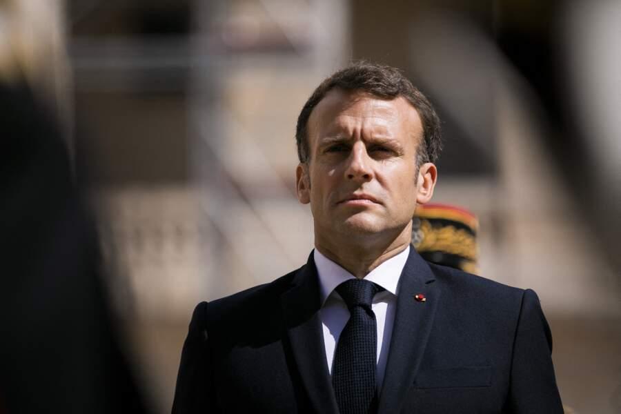 Emmanuel Macron, ce jeudi 8 juillet à Paris