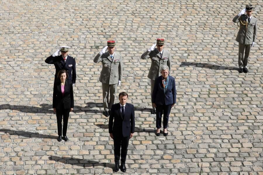 Emmanuel Macron aux Invalides à Paris ce jeudi 8 juillet 2021