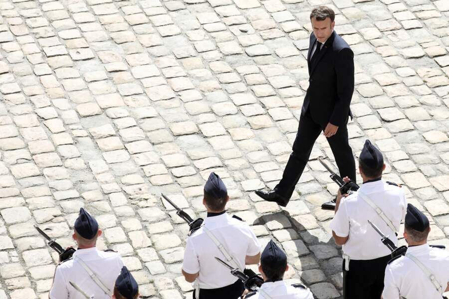 Emmanuel Macron, président de la République, à Paris ce jeudi 8 juillet