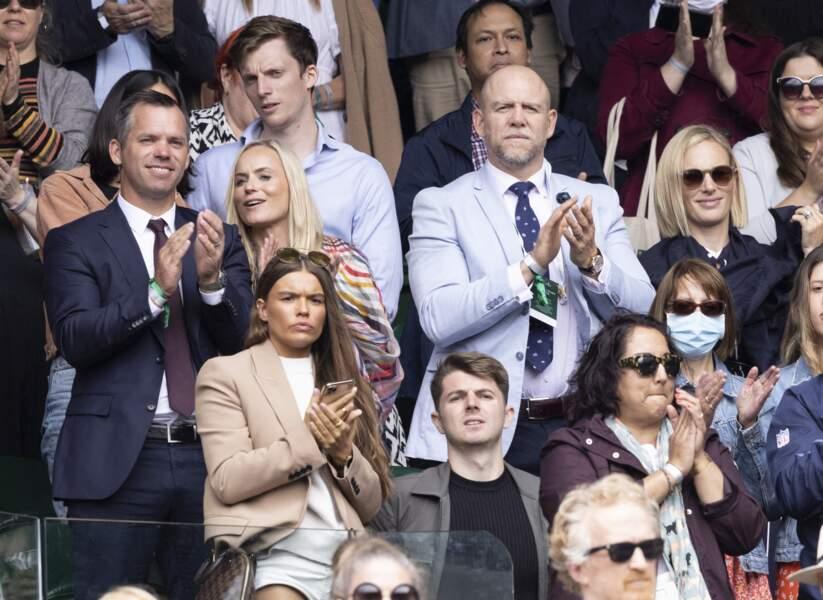 Zra Phillips et Mike Tidall étaient dans les tribunes du All England Lawn Tennis and Croquet Club, le 7 juillet 2021, pour assister à la 9ème journée du tournoi de Wimbledon