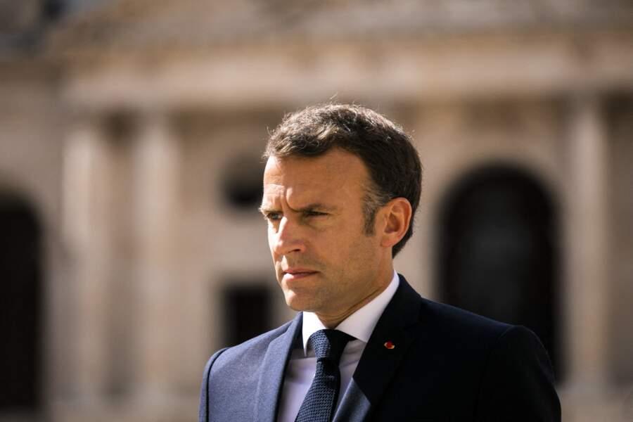Le chef de l'État Emmanuel Macron à Paris ce jeudi 8 juillet