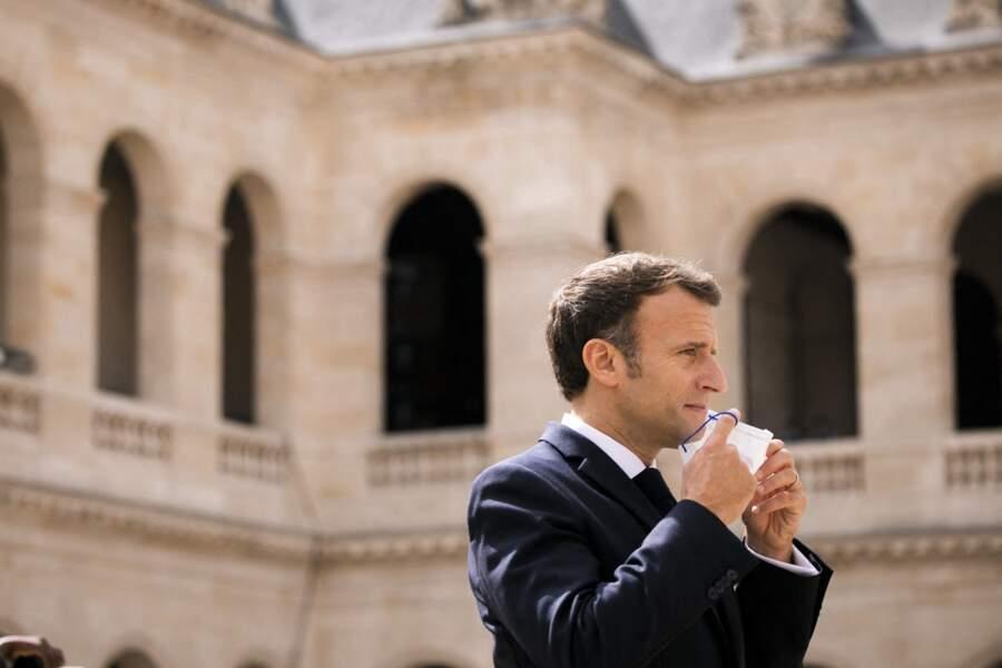 Emmanuel Macron, président de la république Française, ce jeudi 8 juillet à Paris