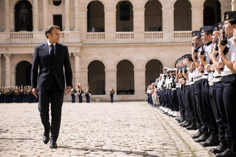 Emmanuel Macron ce jeudi 8 juin à Paris
