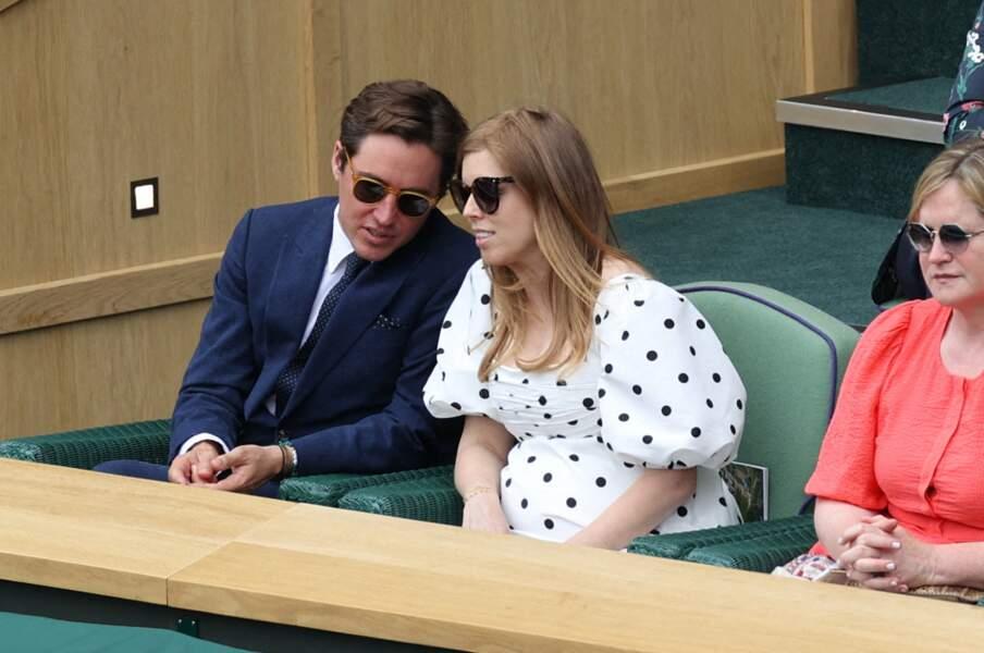 Beatrice d'York enceinte au tournoi de Wimbledon, le 8 juillet 2021