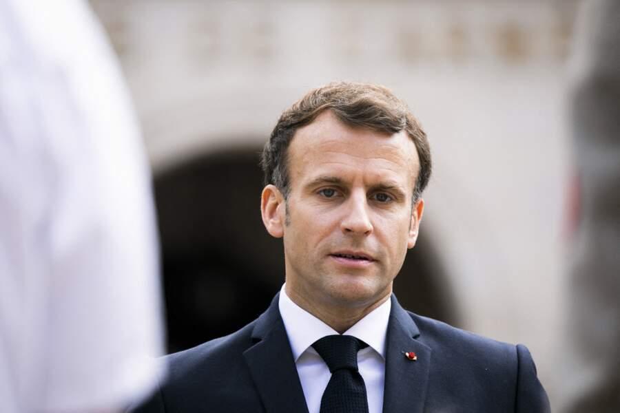 Emmanuel Macron à la cérémonie de passe d'armes ce jeudi 8 juillet à Paris
